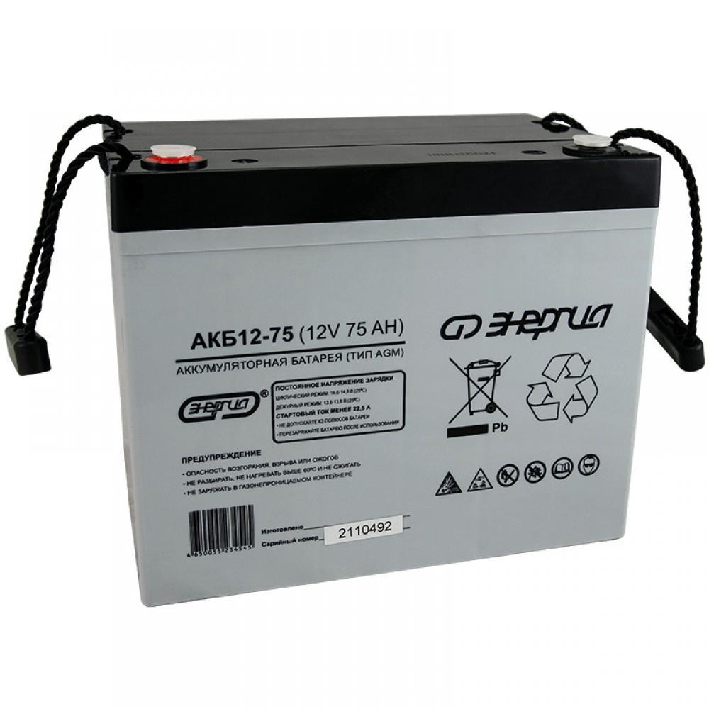 Энергия АКБ 12-75