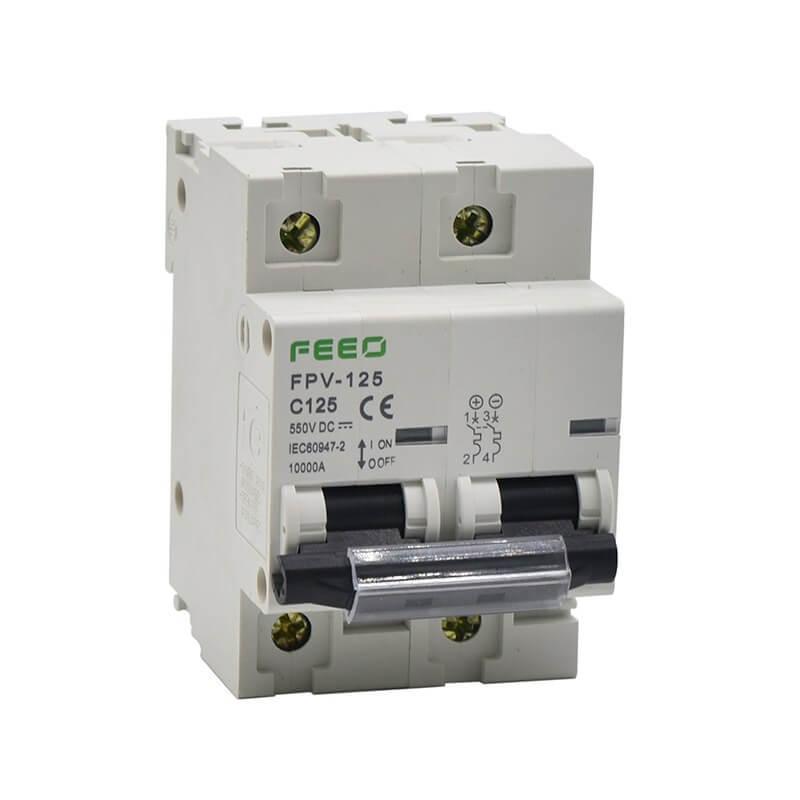 Автомат защиты постоянного тока FPV-125 С100A 2P