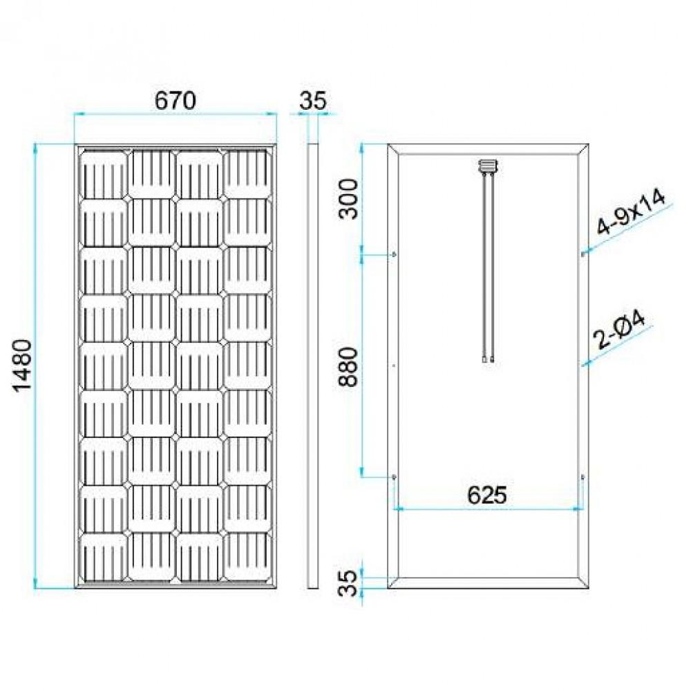 Солнечная батарея Восток ФСМ 150П